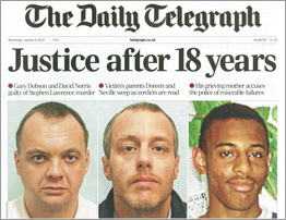 Stephen Lawrence - justice after 18 years